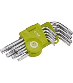 66010 - Kit 9 Chaves Torx T10, 15, 20, 25, 27, 30, 40 e 50 - MX66010