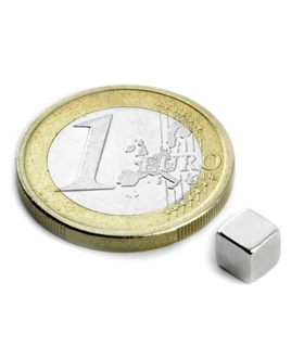 Iman - Cubo Magnetisado em Neodimio, N42 - 1,1 kG - MXCW05N