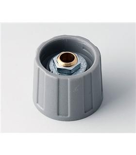 Botão para Potenciometro Cinzento - Ø13.5x15,5mm, Ø eixo:6mm - BPA2513068