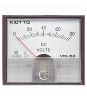 Voltimetro 0-80V Analógico Kiotto 70x60mm - VM5280V
