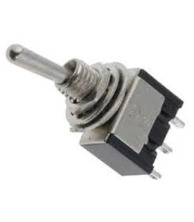 Inversor 1 Circuito 2 Posições Miniatura SPDT, 1A, 250V - 9141C2PM