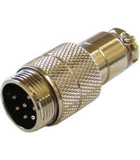 Ficha Microfone 7 Pinos Macho Para Cabo - 69MME7