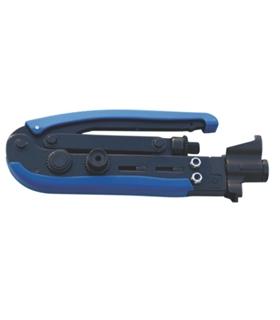 TO3001 - Alicate Compressão Fichas RG6, RG59, RG11 Ajustável - TO3001