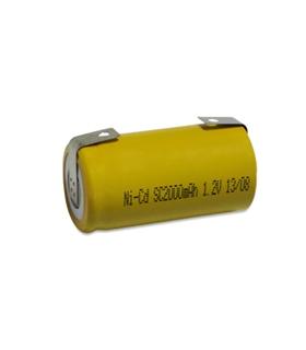 Pilha 1.2V SubC NiCd Com Patilhas, 2800mAh - SMALLCCP2.8A