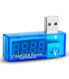 Comprovador de Voltagem e Amperagem  pela porta USB - DOCTORUSB