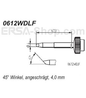 Ponta 4.0mm para ferro Tech Tool de estaçoes ERSA - 0612WDLF/SB