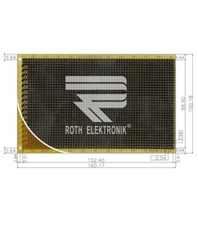 ROTH ELEKTRONIK - RE524-LF - PCB, EUROCARD, FR4, STRIPES - RE524