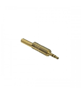 J3SMD - Jack 3.5mm Stereo Macho Metálica Dourada - J3SMD