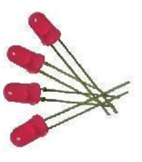 C-2734 - Pack de 10 Leds Vermelhos Alto-Brilho 4500mcd - C-2734