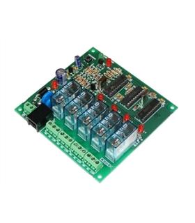I-206.4 - Placa Receptora 4 Canais Controlada por Telefone - I-206.4