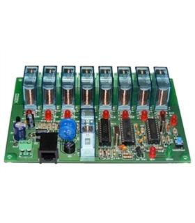 I-206.8 - Placa Receptora 8 Canais Controlada por Telefone - I-206.8