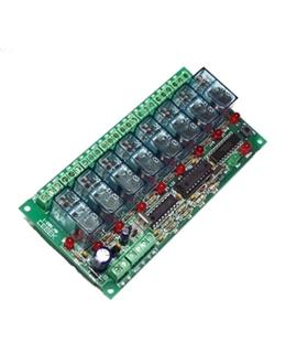 I-207.8 - Placa Receptora 8 Canais Controlada por Telemovel - I-207.8