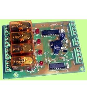 I-58 - Sequenciador Ampliavel Escravo 4 Canais 12Vdc - I-58