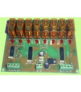 I-59 - Sequenciador Ampliavel Escravo 8 Canais 12Vdc - I-59