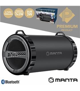 SPK204FM - COLUNA BLUETOOTH 2.1 2X2W+5W USB/SD/FM/AUX/BAT - SPK204FM
