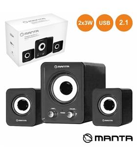 CONJUNTO COLUNAS PC 2.1 2X3W USB - SPK210