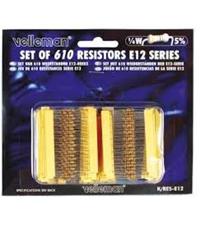 KRES-E12 - Kit 610 Resistências 1/4W Velleman - KRES-E12