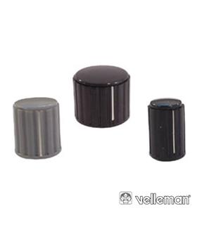 KN144BS - Botão Preto Com Linha Branca 14x16mm - KN144BS