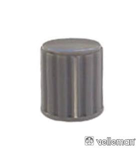 KN146GS - Botao Cinza Com Linha Branca 14x16mm - KN146GS