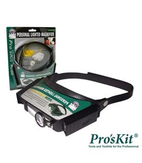 8PK-MA003N - LUPA DE CABEÇA COM ILUMINAÇÃO A LED PROSKIT - 8PKMA003