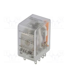 Rele Weidmuller DPDT; Ubobina 24VDC;10A/250VAC;10A - RCL424024