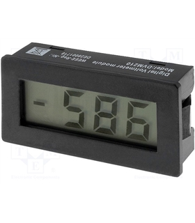 DVM210 -  Panel meter LCD 3,5 digit 10mm 0-199mVDC 24x48x15 - DVM210