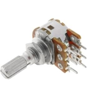 Potenciometro Rotativo C/Veio Duplo 10K OHM - 162010KD