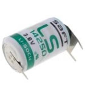 Pilha Litio Li-SOCl2 1/2AA 3.6V Pinos Circuito Impresso - 169LS14250PF