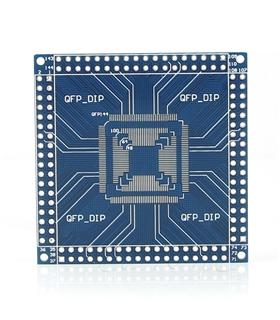 Adaptador SMD QFP/TQFP/LQFP 32/44/48/64/100/144 para DIP - LQFP144