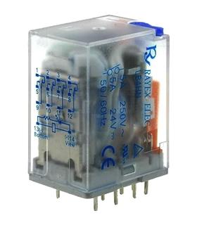 LB4HN-12DTP - Relay: electromagnetic; 4PDT; Ucoil:12VDC; 5AA - LB4HN-12DTP