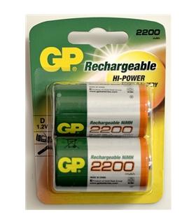 Pilha recarregavel LR20 D 2200mAh GP - GP220DH