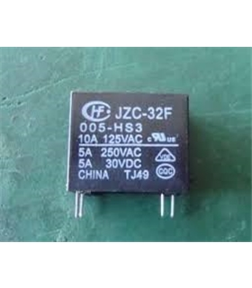 JZC-32F-005-HS3 - Relé 5V SPST 5A 250VAC/30VDC 4Pins - JZC-32F-005-HS3