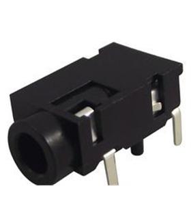 Jack 3.5mm Stereo Mono Para Circuito Impresso com switch - J3MCI2