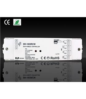 Controlador RGB Receptor In-12/24Vdc Out- 4x8A - 4x96-288W - SR1003RCWEA