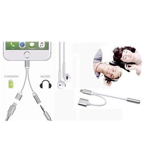 Cabo Adaptador Para Iphone 8 Com Ficha Lightning + Jack 3.5 - MXAKV2151