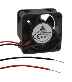 Ventilador Delta 12V 40x40x20mm 1.2W - EFB0412HHD