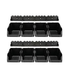 Caixa Arrumação ABS 103x165x75mm 8x c/ 2 Suportes - OMSB10SET