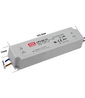 LPV-60-12 - Fonte Alimentação IP67. In 90-264Vac Out 12Vdc 5 - LPV6012
