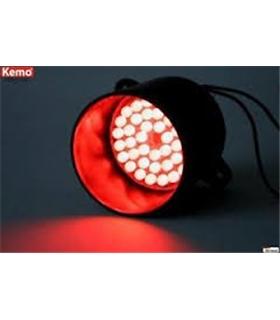 Módulo luz de sinalização 39 LEDs vermelhos - Kemo M136 - MX096-5135