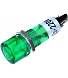 Indicador com lâmpada de neon verde 230VAC Ø10mm - MX0170246