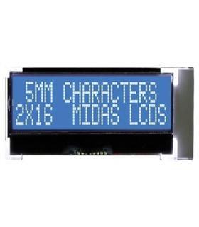 MCCOG21605D6W-BNMLWI - Alphanumeric LCD, 16 x 2 - MCCOG21605D6W