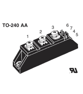 MCC26-16 - THYRISTOR MODULE 1600V 2X32A - MCC26-16