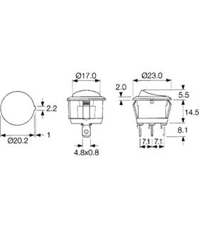 Interruptor Basculante Redondo Pequeno - 914IBRP