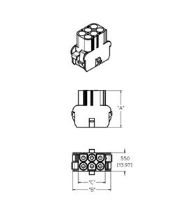MX-42022-06C - Ficha Molex 6 Pinos 6.35mm - MX4202206C