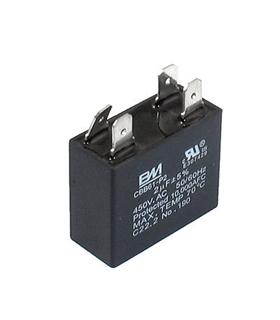 CBB61 - Condensador Filtragem 2uF 450VAC - CBB612U