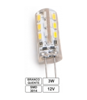 Lampada Led G4 3W 12V 3000K Pack 4 - LLG403WW