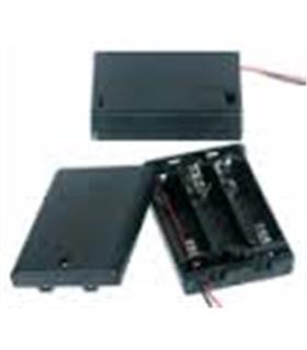 Suporte 3 Pilhas Lr03 em Caixa com Interruptor - S3LR3CI
