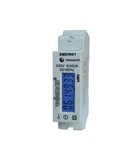 Contador de Energia 230V/16A Montagem Calha DIN - EMDIN01