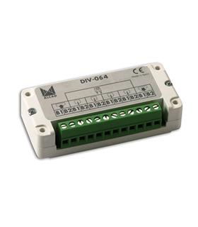 Derivador de Video 4 Saidas para Sistema de 2 Fios - DIV-064