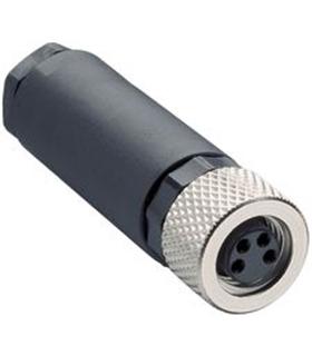 T4010008031-000 - Conector M8, Femea, 3 Pinos TE - T4010008031000